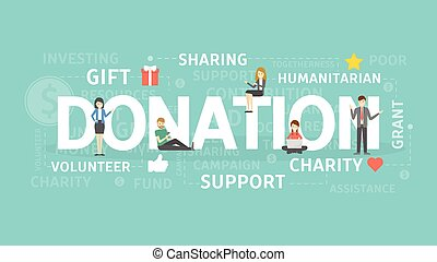 Donation concept illustration. Idea of gift, support and...