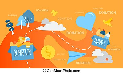 Donation concept illustration