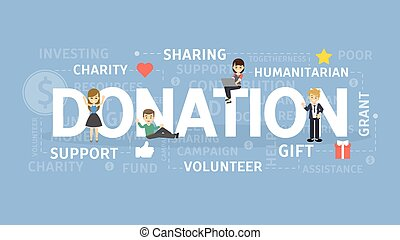 Donation concept illustration.