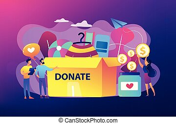 Donation concept vector illustration.