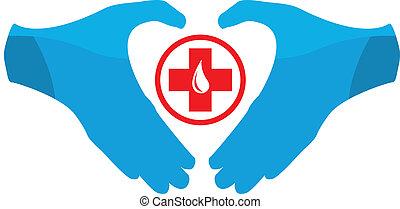 donation, emblème, sanguine, gabarit