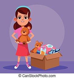donation, gosse, charité