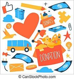 Donation icon set