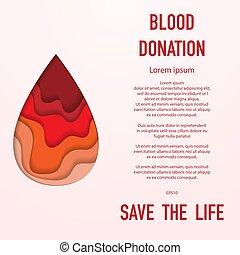 donation, sanguine, fond
