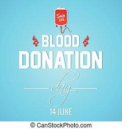 donation, sanguine, jour