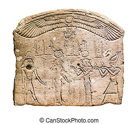 Donation stela. Limestone. Ptolemaic Period, reign of...