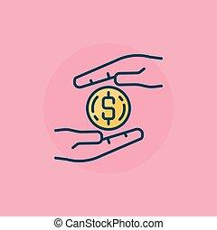 Donation vector concept illustration