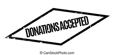 Donations Accepted rubber stamp
