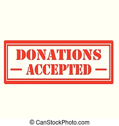Donations Accepted-stamp