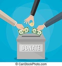 Donations box vector concept