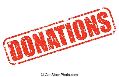 Donations red stamp text
