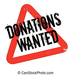 Donations Wanted rubber stamp