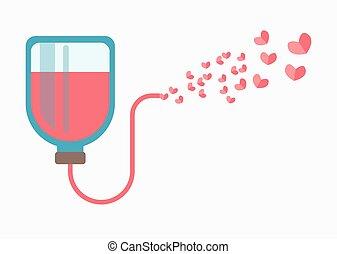 donativo sangre, logotype, señal, aislado, en, white.,...