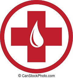 donazione, emblema, sangue, sagoma
