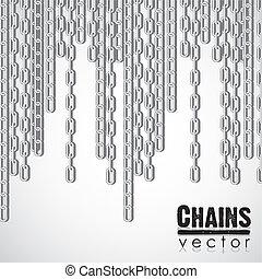 dondolare, collegamento, catena argento
