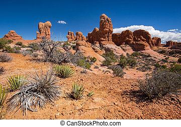dondolare formazioni, in, fornisce arcata parco nazionale