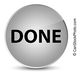 Done elegant white round button