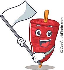 doner, bandeira, kebab, personagem, nacionalista, desenho, mascote