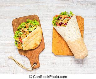 Doner Kebab and Shawarma Sandwich