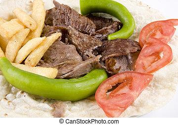 Doner kebab detail