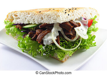 Doner with pitta bread