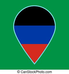 Donetsk Peoples Republic flag icon travel vector.