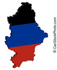 Donetsk Peoples Republic Map Flag Vector 3D