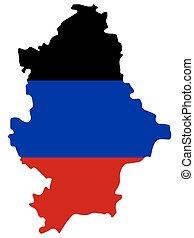 Donetsk Peoples Republic Map Flag Vector illustration Eps 10