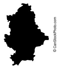 Donetsk Peoples Republic Map Silhouette Vector illustration Eps 10