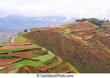 Dongchuan, Yunnan laterite terraces,