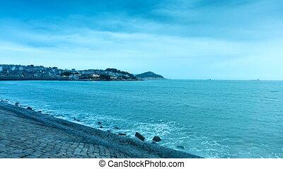 Dongshan Island night scene - Dongshan Island coastline and...