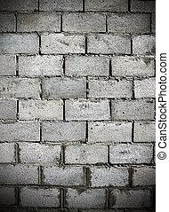 donker, baksteen muur