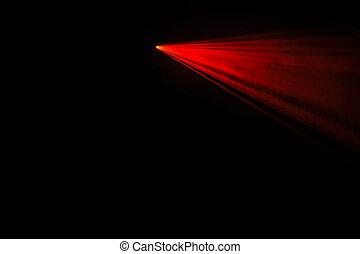 donker, balken, laser, rood