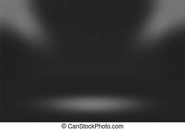 donker, beeld, schijnwerper, kamer