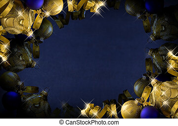 donker blauw, kerstmis