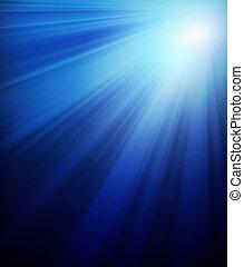 donker blauw, zonneschijn, achtergrond