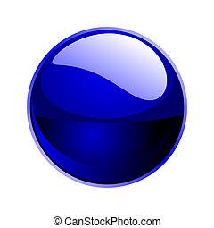 donker, bol, blauwe