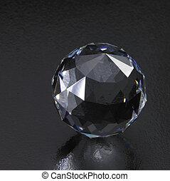 donker, diamant, bol