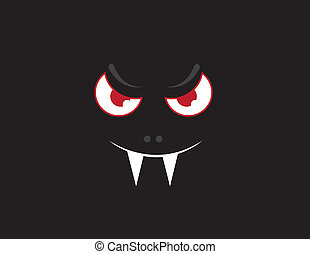 donker, gezicht, vampier