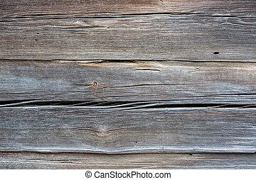 donker, grijze , houten, achtergrond, textuur