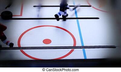donker, halo, ouderwetse , ijshockey, spel
