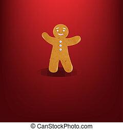 donker, kerstmis, bac, rood, %u0421ookies