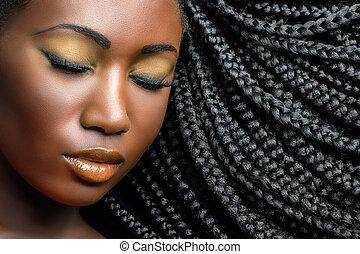 Ebony sexy meisje
