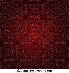 donker, model, behang, seamless, rood