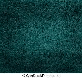 donker, oud, papier, groene, textuur
