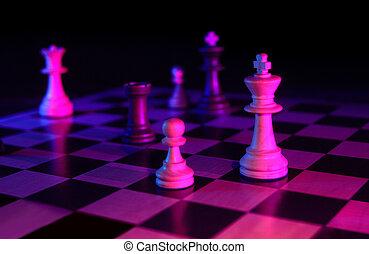donker, spel, schaakspel