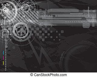donker, technologie, achtergrond