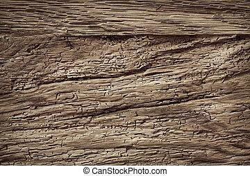 donker, textuur, van, hout