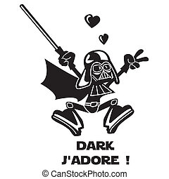 donker, vador, h?ro, karakter