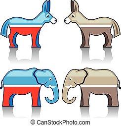 Donkey and Elephant Political